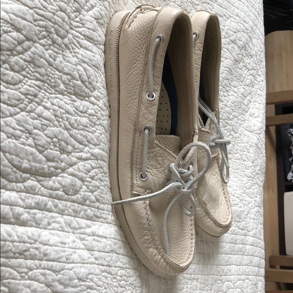 Sperry Other - Sperry Men's size 9W. White leather.